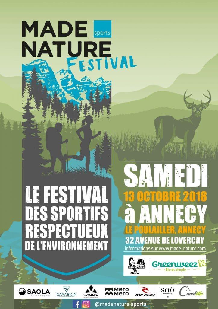 MADE NATURE festival, le premier évènement dédié aux sportifs et aux marques respectueux de l'environnement
