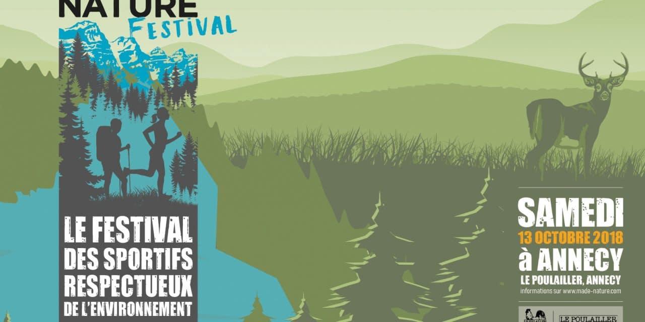 Participez à la 1ère édition du MADE NATURE Festival, Samedi 13 octobre à Annecy