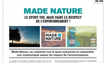 Made Nature, ou comment fédérer les sportifs autour du respect de l'environnement : article de MK Sport