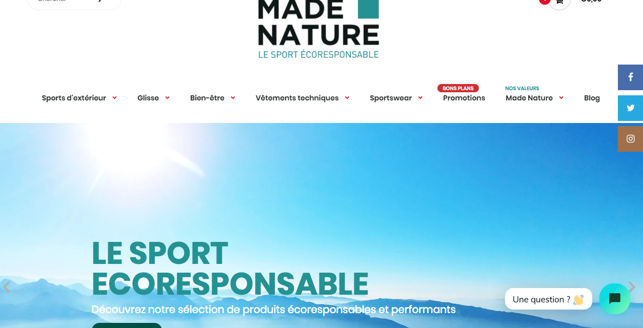[Communiqué de presse] Les sportifs respectueux de l'environnement ont enfin leur boutique !